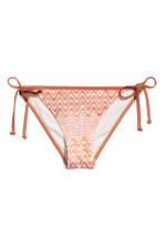 Tie tanga bikini bottoms - Rust/White - Ladies | H&M 2