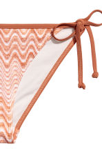Tie tanga bikini bottoms - Rust/White - Ladies | H&M CA 3