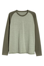 Long-sleeved T-shirt - Khaki green - Men | H&M 2