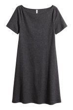 Ribbed jersey dress - Dark grey - Ladies | H&M CN 3