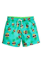 Swim shorts - Mint green/Pineapple  - Kids | H&M 1