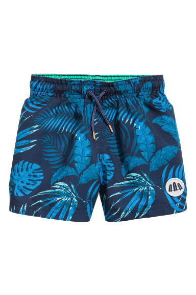 Swim shorts - Dark blue/Leaf - Kids | H&M