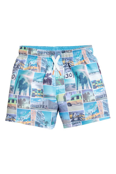 Swim shorts - Turquoise/Photo -  | H&M