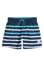 Swim shorts - Dark blue/Blue - Kids | H&M CN 1