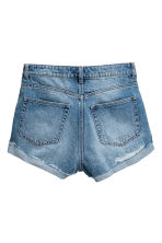 Short High Waist Shorts - Denim blue trashed - Ladies | H&M 3