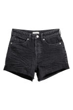 Short High Waist Shorts - Black denim - Ladies | H&M CN 2