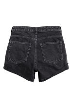 Short High Waist Shorts - Black denim - Ladies | H&M 3