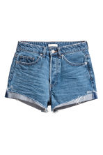 Short High Waist Shorts - Denim blue - Ladies | H&M 2