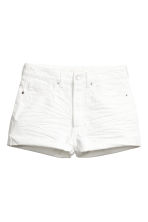 Short High Waist Shorts - Vit denim - Ladies | H&M FI 2