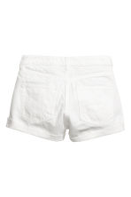 Short High Waist Shorts - Vit denim - Ladies | H&M FI 3