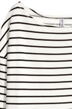 長袖平紋上衣 - White/Striped - Ladies | H&M 4