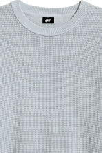 Textured cotton jumper - Light grey - Men | H&M 3