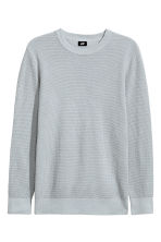 Textured cotton jumper - Light grey - Men | H&M 2