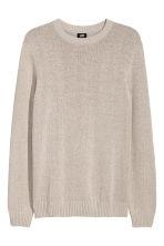 Linen-blend jumper - Light beige - Men | H&M CN 2