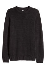 Pullover in misto lino - Nero - UOMO | H&M IT 2