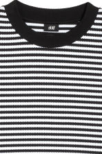 Jacquard-knit jumper - Black/White/Striped - Men | H&M 3