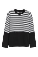 Jacquard-knit jumper - Black/White/Striped - Men | H&M 2