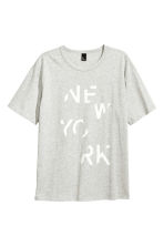 Printed T-shirt - Grey marl/New York - Men | H&M CN 2