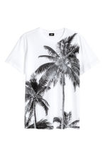 T-shirt with a print motif - White/Palms - Men | H&M CN 2