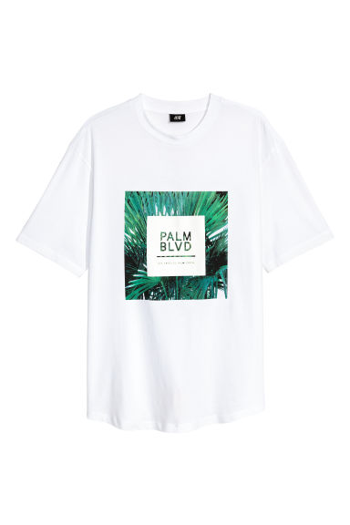 Printed T-shirt - White/Palm - Men | H&M 1