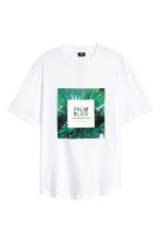 圖案T恤 - White/Palm - Men | H&M 1