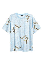 Light blue/Birds