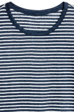 Linen jersey T-shirt - Blue/White striped - Men | H&M IE 3