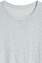 Linen jersey T-shirt - Light grey marl -  | H&M 3