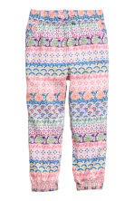 Patterned pull-on trousers - Pink/Blue -  | H&M CA 2