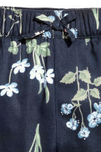 Patterned pull-on trousers - Dark blue/Floral - Kids | H&M 3
