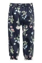 Patterned pull-on trousers - Dark blue/Floral - Kids | H&M 2