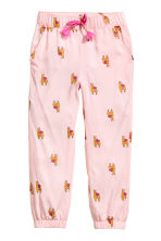 Patterned pull-on trousers - Light pink - Kids | H&M CN 2
