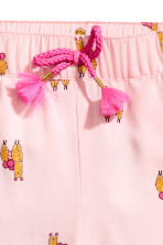 Patterned pull-on trousers - Light pink - Kids | H&M CN 3