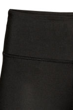 Sports tights - Black/Text print - Ladies | H&M 5
