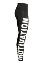 Sports tights - Black/Text print - Ladies | H&M 3