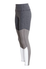 Sports tights - Grey marl/White - Ladies | H&M 3