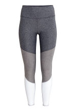 Sports tights - Grey marl/White - Ladies | H&M CN 2