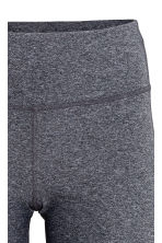 Sports tights - Grey marl/White - Ladies | H&M 4