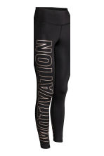 Sports tights - Black/Text -  | H&M 5