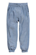 Pull-on trousers - Blue/Chambray -  | H&M 2