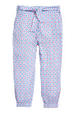 Pull-on trousers - Light blue/Patterned -  | H&M 2