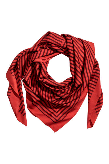Large scarf - Red/Patterned - Ladies | H&M CN 1