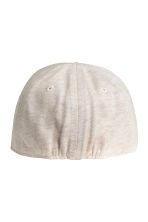 Cap with a motif - Natural white marl -  | H&M 2