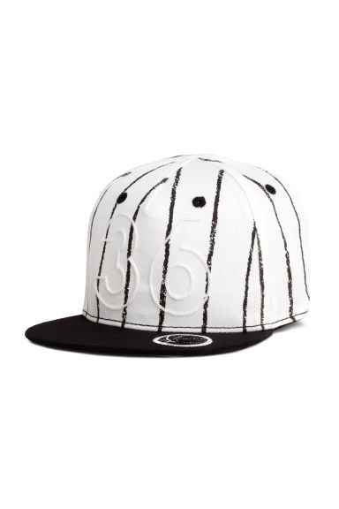Cap with a motif - Black/White - Kids | H&M