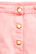 Button detail skirt - Washed-out pink -  | H&M 4