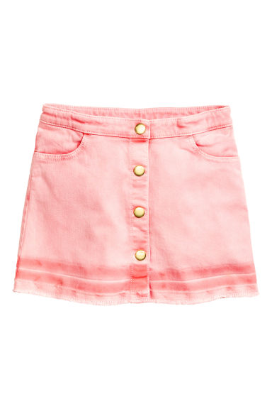Button detail skirt - Washed-out pink -  | H&M 1