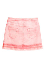 Button detail skirt - Washed-out pink -  | H&M 2