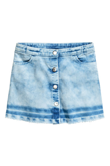 Button detail skirt - Blue washed out -  | H&M 1