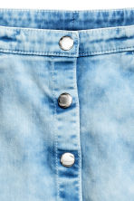 Button detail skirt - Blue washed out -  | H&M 2