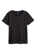 Cotton jersey T-shirt - Black - Men | H&M 2